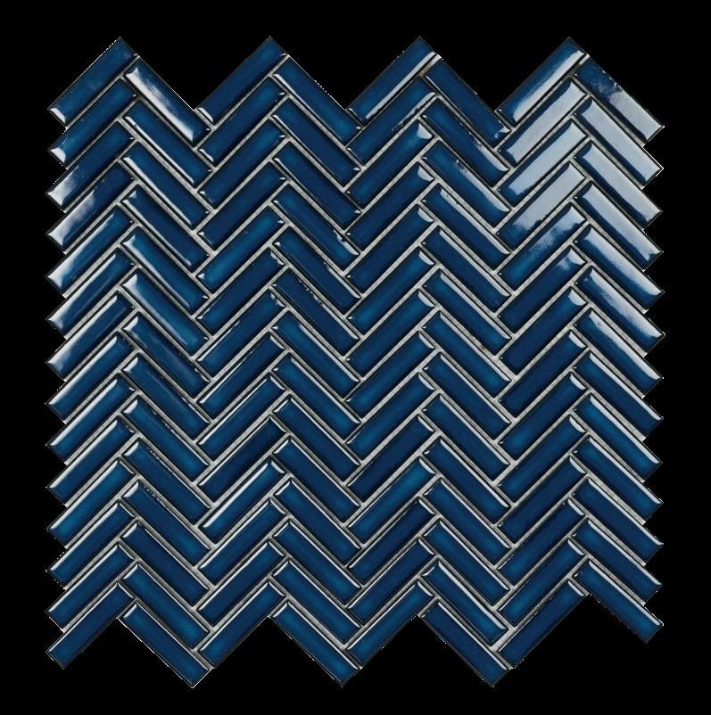 Mosaïque grès cérame TECH CHEVRON 30x30