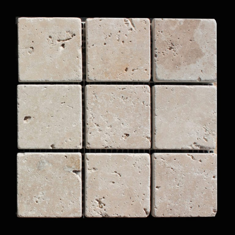 MOSAIQUE TRAVERTIN CLASSIC 4.8x4.8 CM