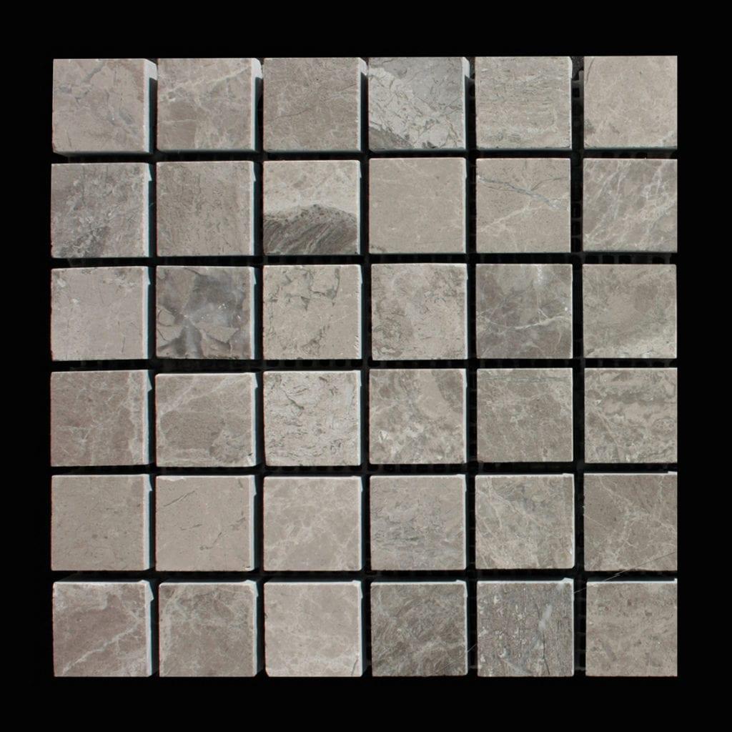MOSAIQUE MARBRE ATLANTIC GREY POLI 2,3 X 2,3 CM