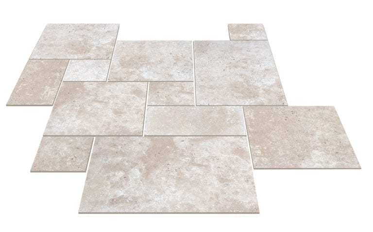 TRAVERTIN SUPER LIGHT OPUS 4 FORMATS X 1,2 CM BEIGE - 1ER CHOIX
