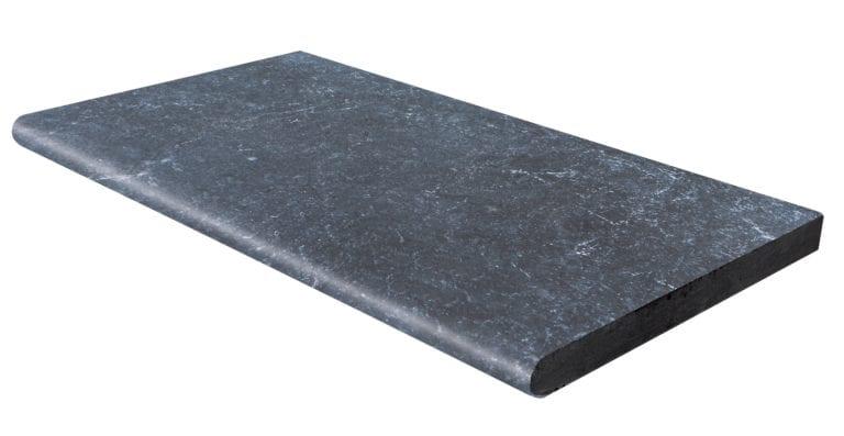 MARGELLE 1/2 ROND MARBRE VULCANO BLACK 33 X61 X3,2 CM