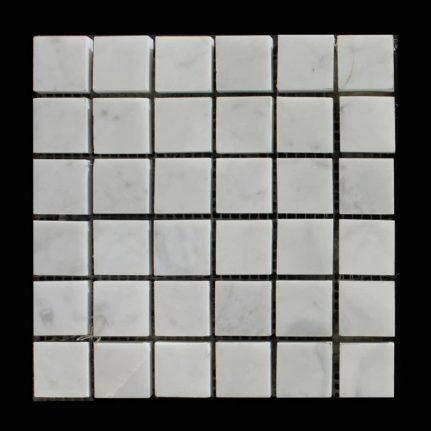 MOSAIQUE MARBRE BIANCO CARRARA 2,3 x 2,3 cm