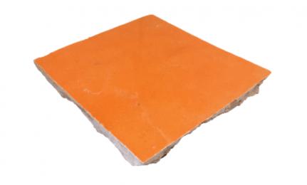 VERITABLE ZELLIGE 10 X 10 CM ORANGE POP