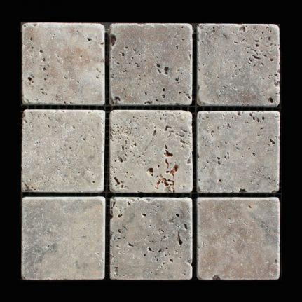 MOSAIQUE TRAVERTIN MIX 3 COULEURS 4.8x4.8 CM