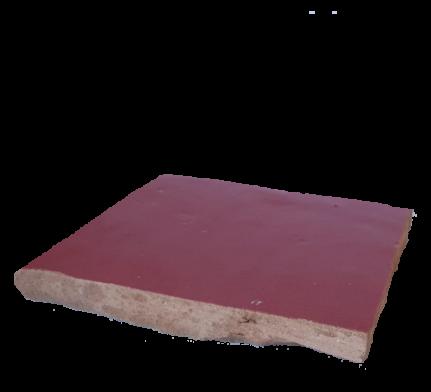 véritable zellige 10 x 10 cm rouge