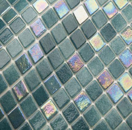mosaique en émaux de verre 2.5 x 2.5 cm mix nilo