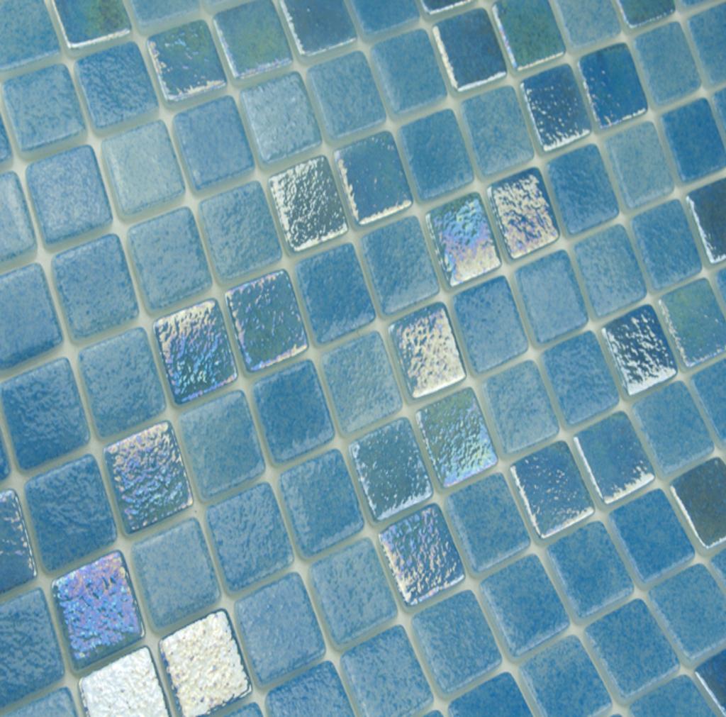 mosaique en émaux de verre 2.5 x 2.5 cm Mix Oria