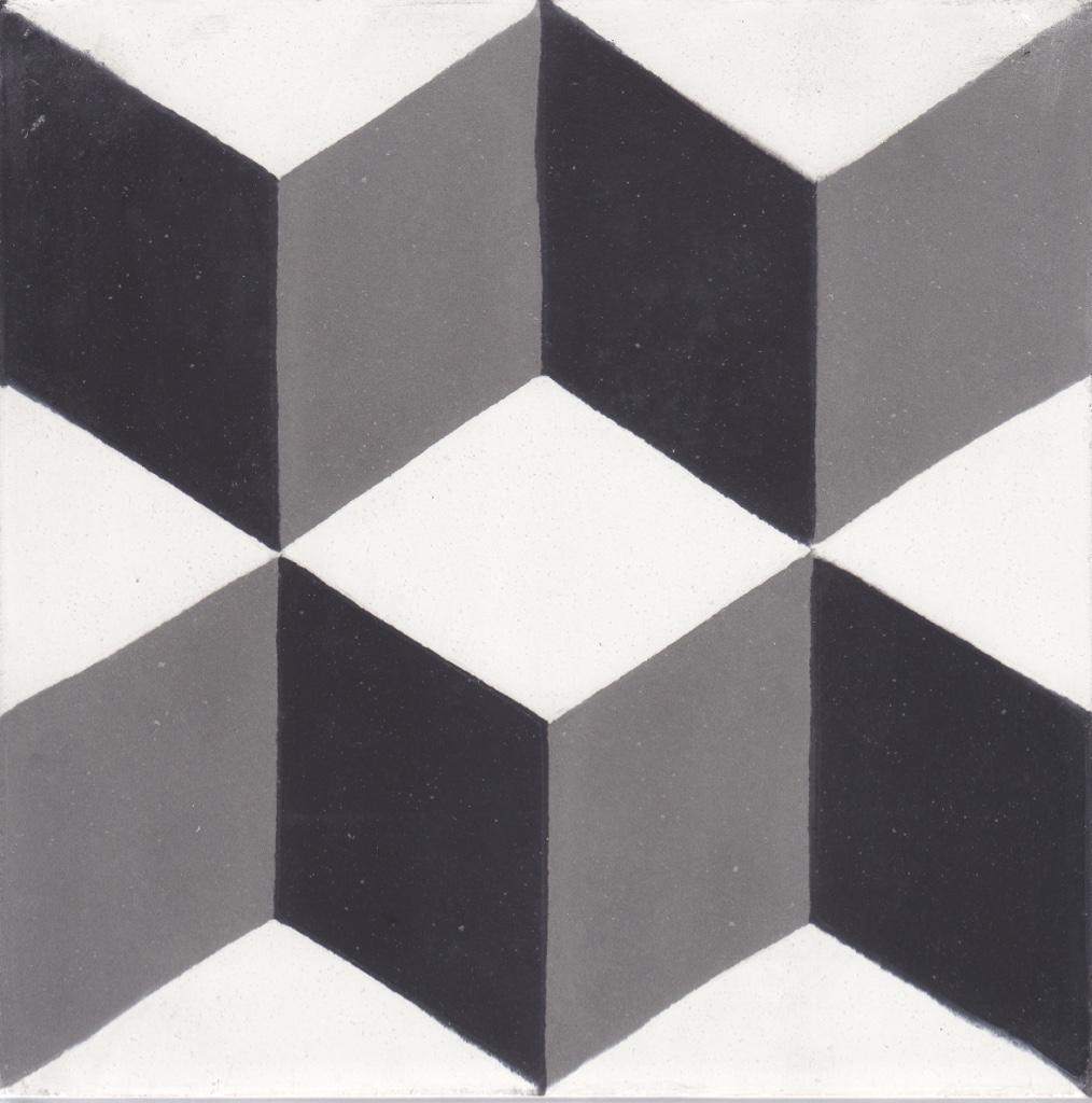Véritable Carreau ciment 20 x 20 cm Séverine