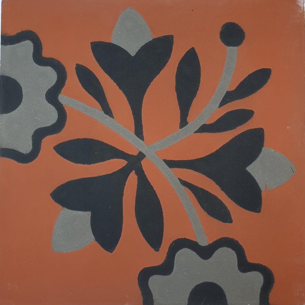 Véritable carreau ciment 20 x 20 cm Corinne