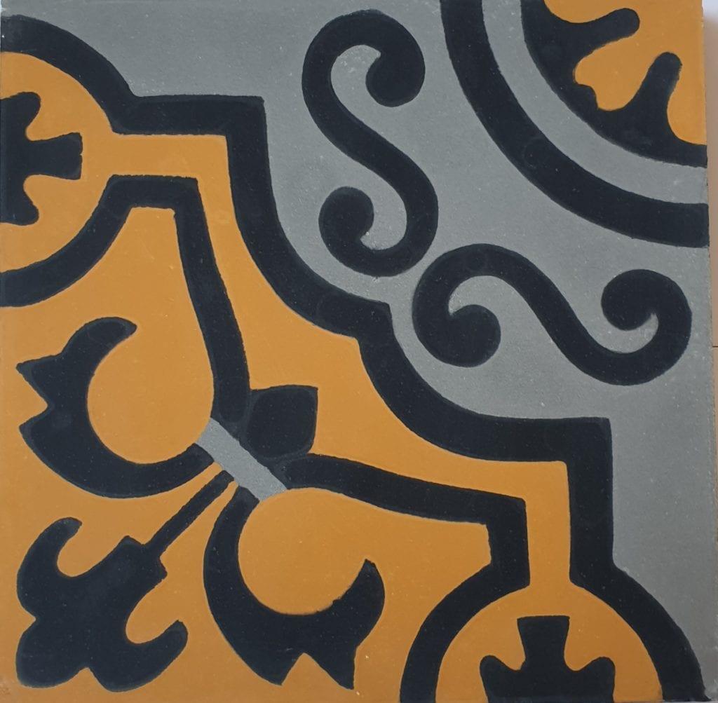 Véritable carreau ciment 20 x 20 cm Mathilde