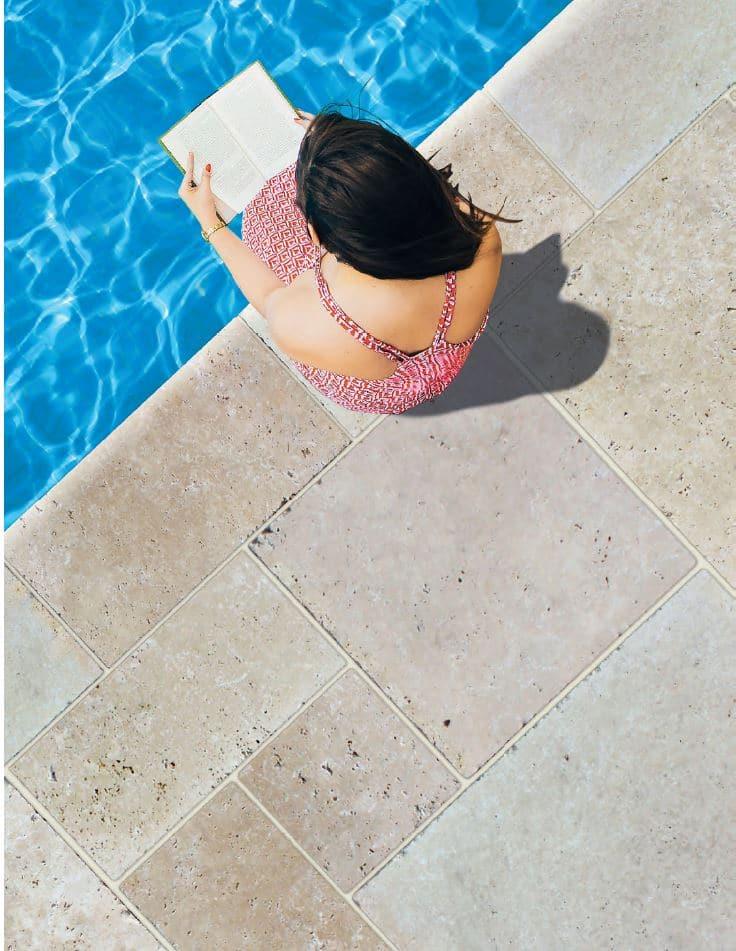 travertin piscine sur VotreCarrelage.com