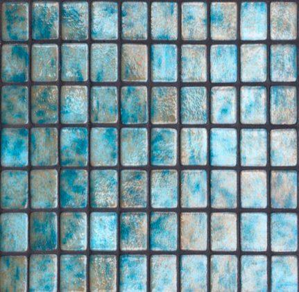 mosaique en émaux de verre 2,5 x 2,5 cm Aguamarina