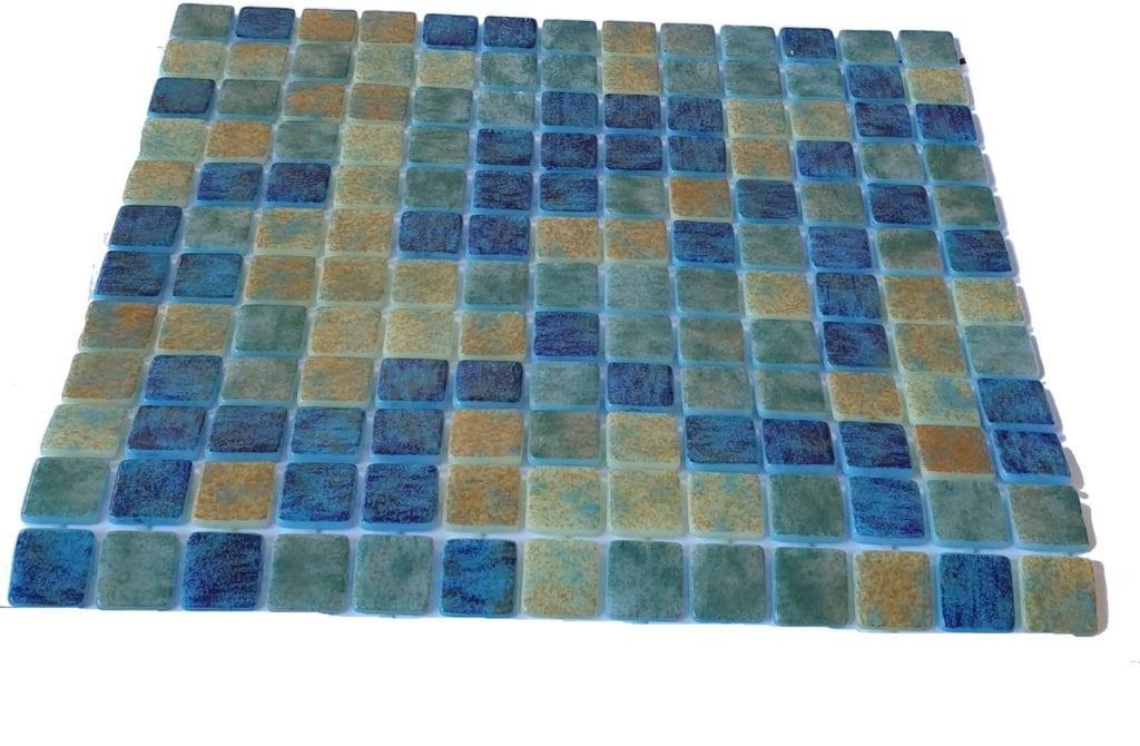mosaique en émaux de verre 2,5 x 2,5 cm Blue Bali