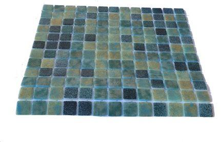 mosaique en émaux de verre 2,5 x 2,5 cm Depp River