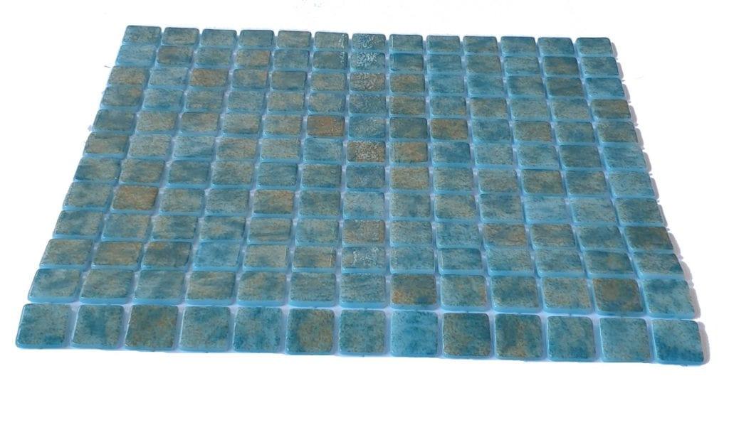 mosaique en émaux de verre 2,5 x 2,5 cm Jade