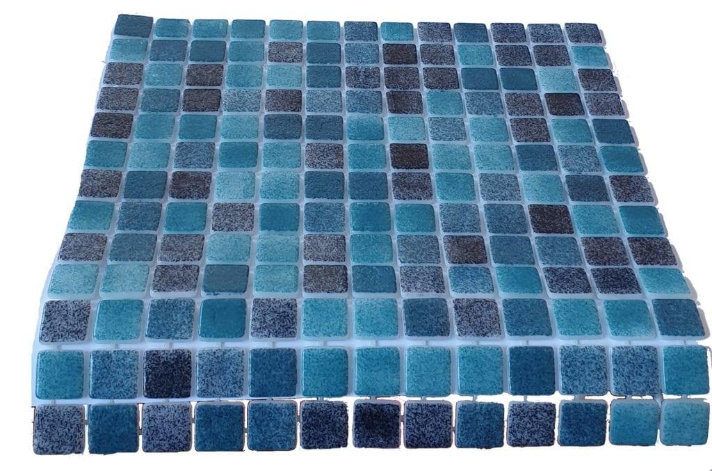 mosaique en émaux de verre 2,5 x 2,5 cm Turquese Lagoon