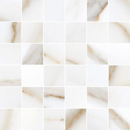 Carrelage d'exception effet marbre MOSAÏQUE CALACATTA GOLD 30x30