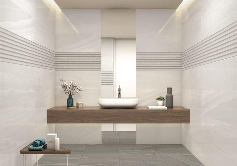 carrelage imitation pierre salle de bain