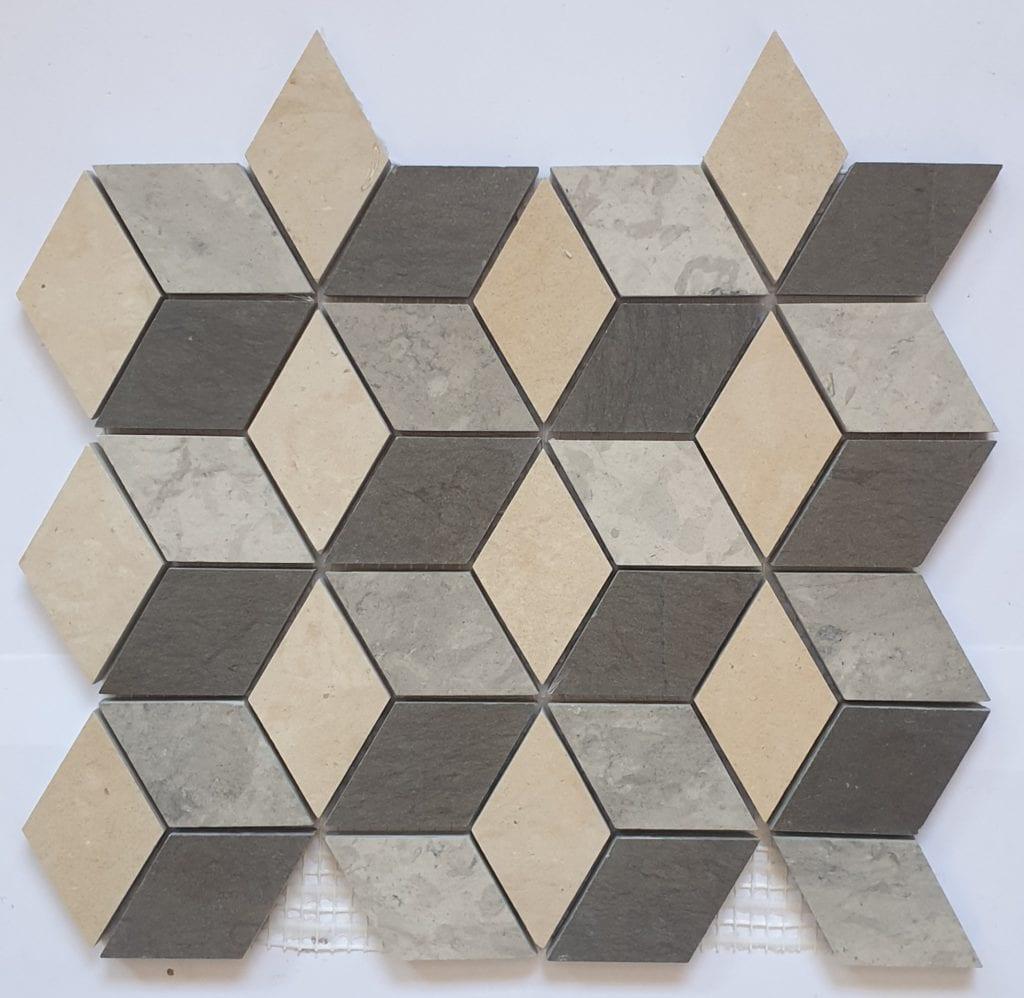 Mosaïque pierre naturelle SAVANA 27x24