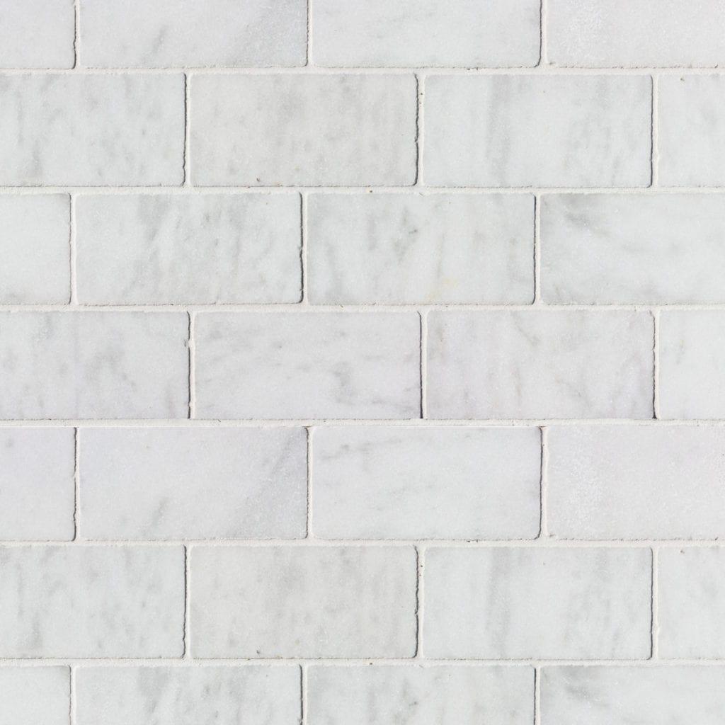 PLAQUETTE MURALE WHITE MARBLE 10 X 20 X 1CM