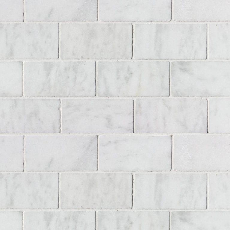 WHITE MARBLE 10 X 20 X 1CM