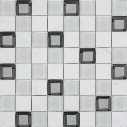 Mosaïque mélange de matières KEOPS 30x30