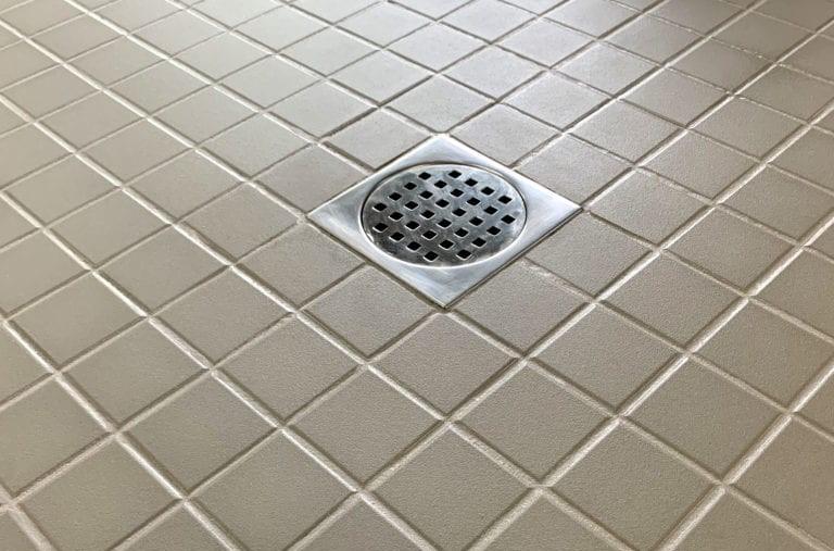 mosaïque de fond de douche