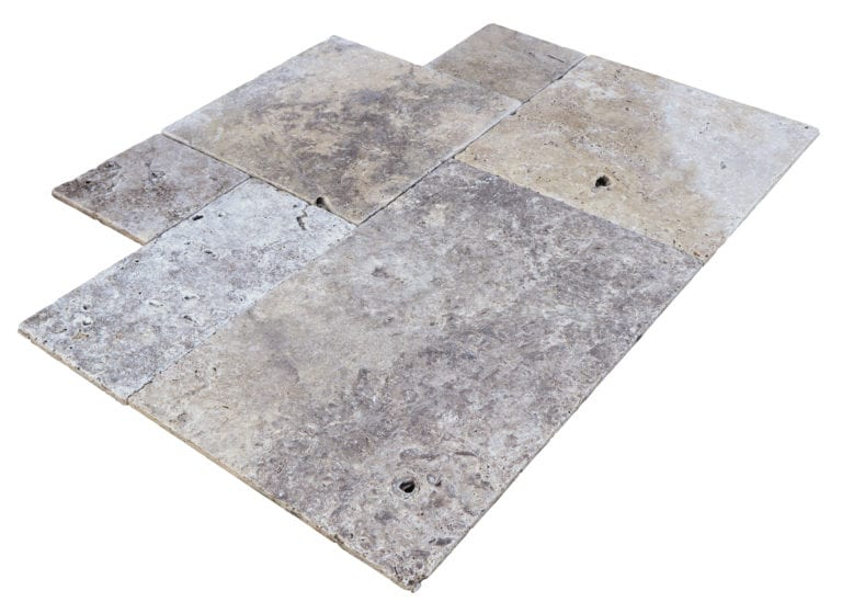 TRAVERTIN SILVER OPUS 4 FORMATS CHOIX RUSTIC