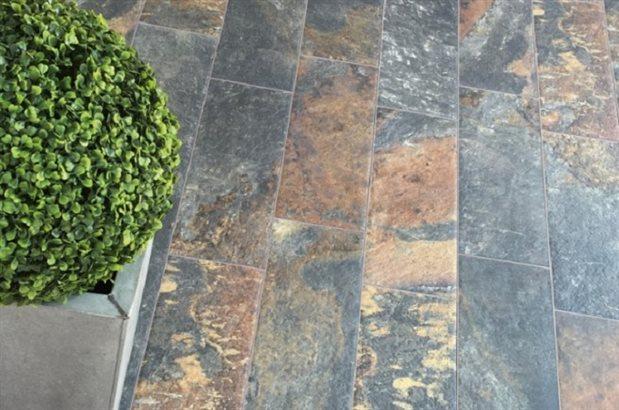 Carrelage sol extérieur effet pierre