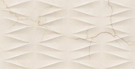 Carrelage d'exception effet marbre DECO CREMA AVORIO 32X62.5